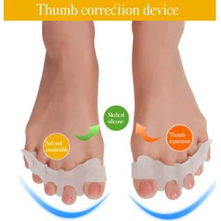 A Pair of New Improved Five Toes Gel Toe Separator Bunion Hallux Valgus