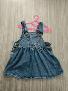 Overall Dress Denim