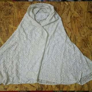 Atasan wanita import marshmallow crown outer hoodie