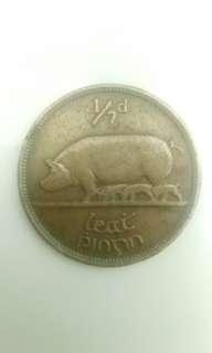 1941 Half Quater Coins