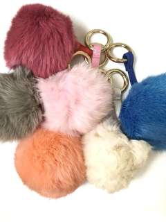 "NEW fur ball keychain/bag chain ""B"""