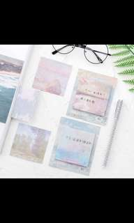 Watercolour sticky notes /Post It Note