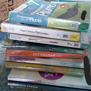 Grade 7 books (3 for 500)