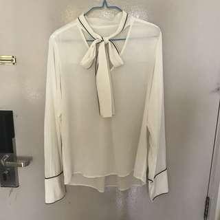 MO&Co. white shirt