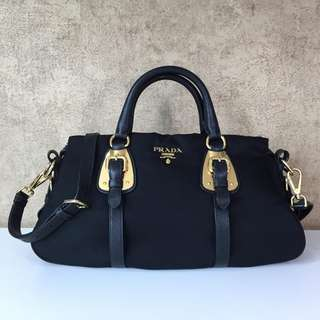 PRADA TESSUTO NYLON TOP HANDLE CONVERTIBLE BAG