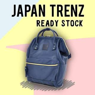 (READY STOCK) Anello Synthetic Leather Backpack (Mini) (AT-B1212-Navy)