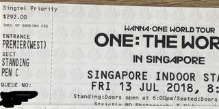 Selling SG WANNA ONE concert ticket!
