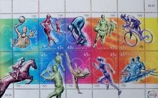 悉尼奧運郵票小版張