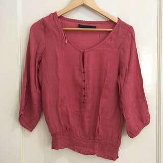 ZARA Dark Rose Shirt