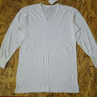 Atasan wanita import white T-shirt