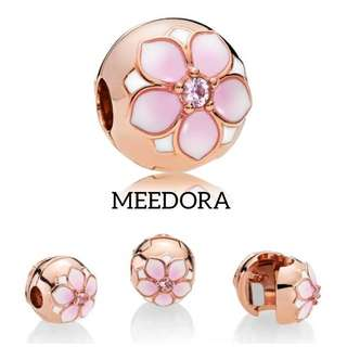 ROSE MAGNOLIA BLOOM CLIP ROSE GOLD PANDORA