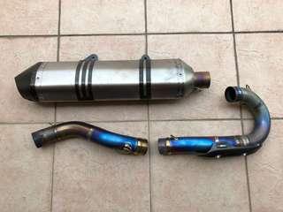 KTM Akrapovic Titanium Full System Exhaust