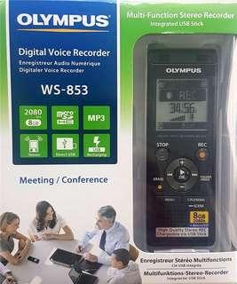 olympus ws 853 recorder 錄音筆
