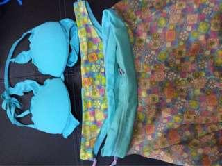 swimsuit set/bundle/ padded two piece