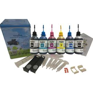For Canon TS8170 Dye & Pigment Ink 100ML 6 Colors Refill Kit Set
