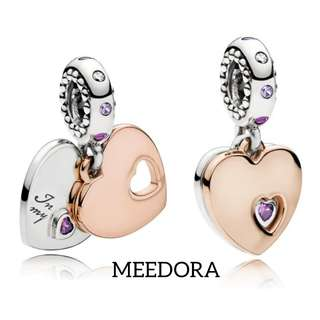 PART OF MY HEART PENDANT ROSE GOLD PANDORA
