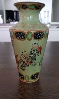 Old age vase -  Hand-painted.