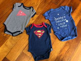 Mothercare & Cotton On Baby Rompers (3pcs)