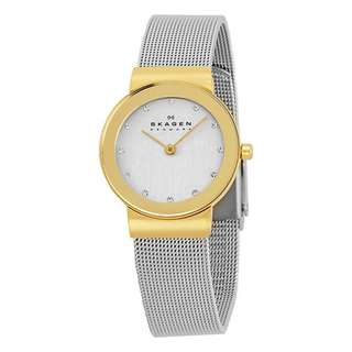 FREJA SILVER DIAL STAINLESS STEEL MESH LADIES WATCH 358SGSCD