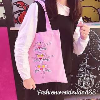 Pink Panther tote bag (B)