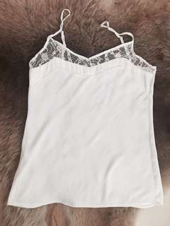 Mango white lace top