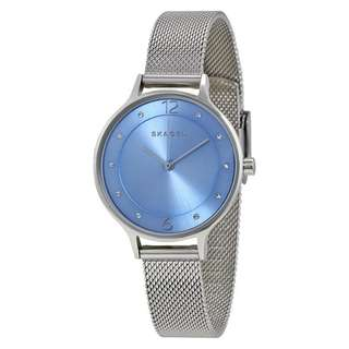 GITTE BLUE DIAL STAINLESS STEEL MESH LADIES WATCH SKW2319