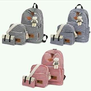 3n1 bagpack w/ bear
