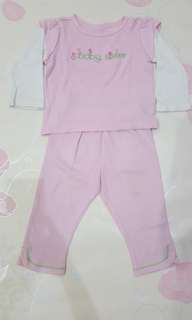 baju tidur soft pink baby sister