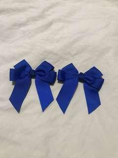 1pair of Cheerbow (blue)
