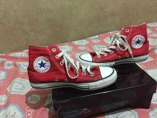 Red converse hightcat