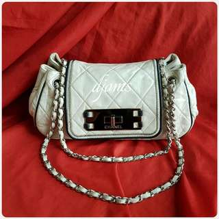 ✔CHANEL SMALL ACCORDION SLING QUILTED FLAP CHAIN BAG