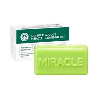 SOME BY MI AHA BHA PHA 30 DAYS MIRACLE CLEANSING BAR WITH BUBBLE NET 106G