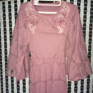 Dress Lace Dusty Pink