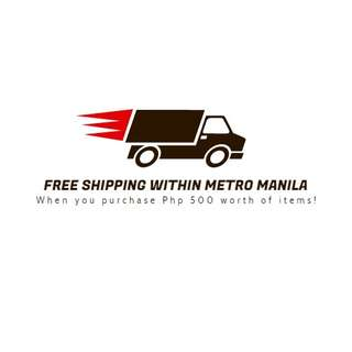 Free shipping within MM!!!! Purchase P500 worth of items!