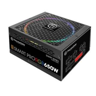 Thermaltake 650W Smart Pro RGB Fully Modular 80+ Bronze Power Supply - SKU: PS-SPR-0650FPCBAU-R