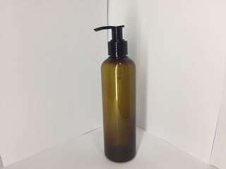 250mL Lotion Pump Amber PET Bottle