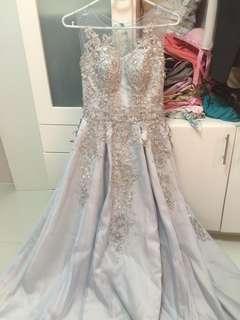 Powder blue ball gown