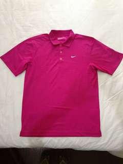 Nike Pink Dri-Fit Polo
