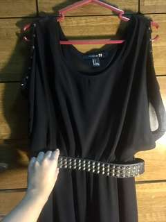 Forever 21 Little Black Dress w/ gold studs