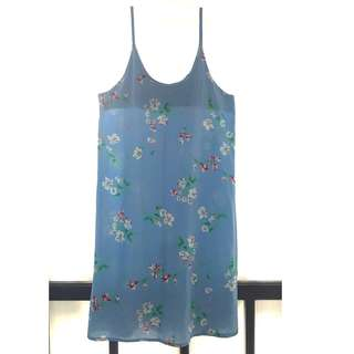 Blue floral spaghetti strap dress (I can include inner shirt in pic if you want it)