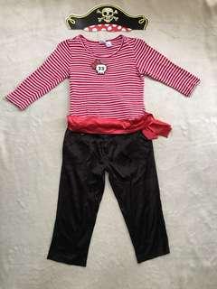 DIY Pirate Costume for girls (7-8yo)
