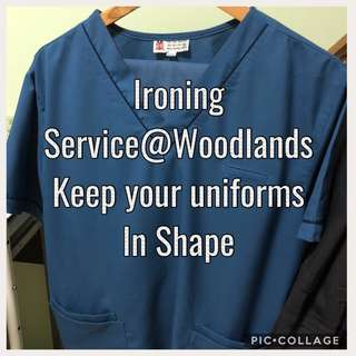 """Uniforms ironing service @Woodlands *Keep the Suit Fresh and Tidy* By appointment - 2 hours to finish for 10pcs🚫❌ NOT ABLE TO IRON """"DELICATE SILKY MATERIAL"""""""