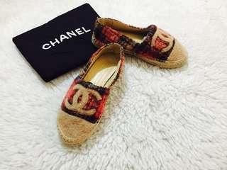 Authentic Chanel Wool Tweed Espadrilles