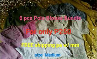 Polo Blouse Bundle 6pcs