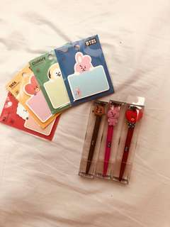 BT21 LINE Sticky Notes