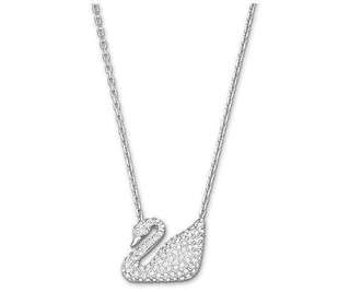 BN Authentic Swarovski White Swan Necklace