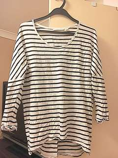 Country road Stripe cotton top size S