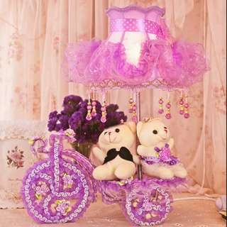 Couple Gift - Romantic Forever Purple Lamp Size 45cm
