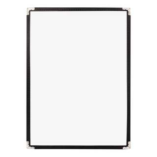 Clear Menu Cover Restaurant A4 1 Pockets/2Pages Black