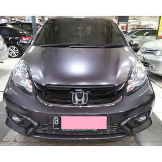 Honda Brio Satya E Tahin 2017 Abu ABu Metalik AT Km 4 Ribu Pajak Panjang